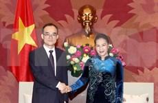 越南国会主席阮氏金银会见韩国大检察厅检察总长文武一