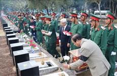 平福省举行在柬埔寨牺牲的越南烈士遗骸安葬仪式