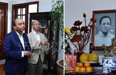 阮春福总理上香缅怀历任党和国家原领导