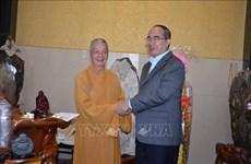 胡志明市和河内市领导人向各宗教团体拜年