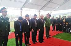 阮德平同志吊唁仪式和安葬仪式在河静省红岭市举行