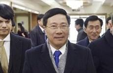 越南政府副总理兼外长范平明对朝鲜进行正式访问