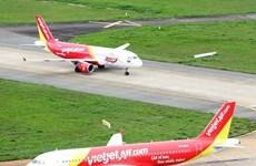 越捷一架飞机降落新山一国际机场后轮胎受损