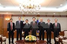 越通社社长阮德利对韩国进行工作访问