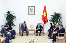 越南政府总理阮春福会见韩国驻越南大使金度铉