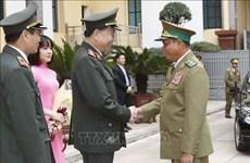 加强越老两国公安部的合作