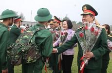 越南安沛省举行2019年度新兵入伍欢送仪式