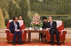 中国天津市市委书记李鸿忠接见越南驻中国大使馆代表团