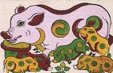 """猪年了解越南各类民间画中""""猪""""的形象"""