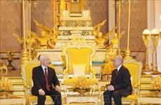 阮富仲访柬:两国发表联合声明