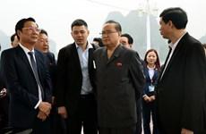朝鲜劳动党高级领导代表团参观世界自然遗产下龙湾
