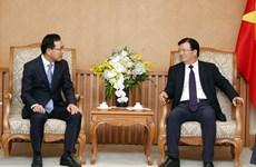 郑廷勇副总理会见韩国三星集团(越南)总裁