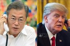 美朝领导人河内会晤:特朗普与文在寅通电话