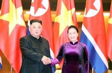 越南国会主席阮氏金银会见朝鲜最高领导人金正恩