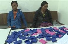 两名老挝人因非法运输合成毒品被山萝省公安逮捕
