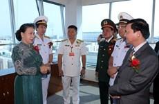 国会主席阮氏金银出席西贡新港总公司成立30周年纪念典礼
