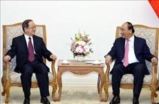 越南政府总理阮春福会见广西壮族自治区党委书记鹿心社