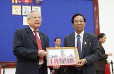 援柬越南老志愿军代表团对柬埔寨进行工作访问