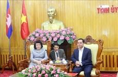 柬埔寨国会第二副主席宫桑达里探访河南省