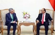越南政府总理阮春福会见美国Visa集团首席执行官阿尔弗雷德·凯利