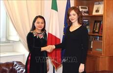 越南与意大利分享性别平等经验