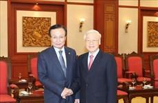 越南领导人会见韩国共同民主党代表团