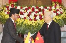 越南与文莱就建立全面伙伴关系发表联合声明