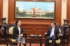 胡志明市领导会见老挝新任驻胡志明市总领事乔米赛