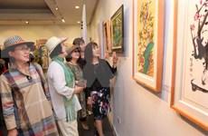 越南与韩国国际美术交流展览会首次亮相河内