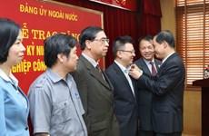 海外党建工作对祖国建设和保卫事业作出有效贡献