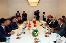 越南国会主席阮氏金银会见摩洛哥-越南友好协会主席穆斯塔法