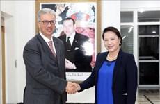 国会主席阮氏金银会见摩洛哥王国马拉喀什大区总督