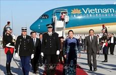 越南国会主席阮氏金银开始对法国进行正式访问