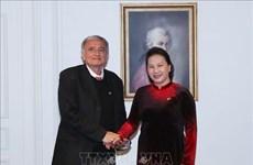 国会主席阮氏金银会见法越友好小组秘书长阿尔尚博