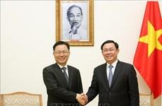 政府副总理王廷惠会见中国云南省政府常务副省长宗国英