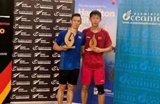 越南羽毛球名将阮进明在新西兰夺得两次冠军