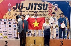 越南柔术选手在泰国柔术公开赛上夺得金牌