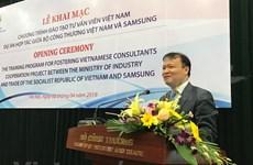 三星(越南)帮助越南培训辅助工业领域的专家