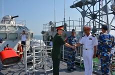 """越南海军第四区012""""李太祖""""号导弹护卫舰对缅甸进行友好访问"""