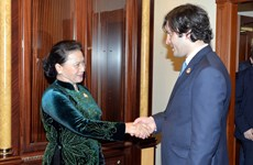 IPU-140间隙:越南国会主席阮氏金银与部分国家国会领导会晤