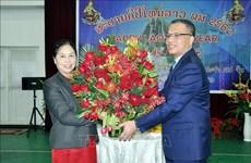越南驻中国大使邓明魁到老挝使馆拜年