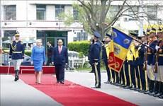 罗马尼亚总理登奇勒为越南政府总理阮春福举行欢迎仪式