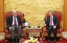 越共中央经济部长阮文平会见国际货币基金组织代表团