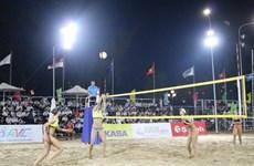 2019年亚洲女子沙滩排球比赛在芹苴市开幕