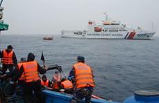 越南海警开展2019年首次北部湾共同渔区海上联合检查行动