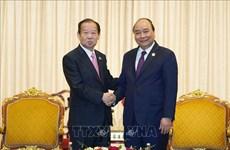越南政府总理阮春福会见日本自由民族党干事长二阶俊博