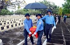 坚江省搜寻和归集在柬埔寨牺牲的越南志愿军遗骨1997具