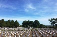 在老挝牺牲的26位烈士在九号公路国家烈士陵园安息
