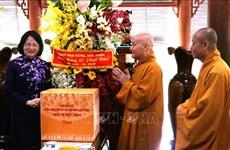 越南国家副主席邓氏玉盛向同奈省信教群众致以佛诞节祝福