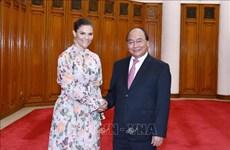 越南政府总理阮春福会见瑞典女王储维多利亚